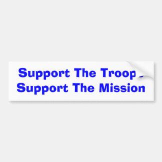 Apoye el TroopsSupport la misión Pegatina De Parachoque