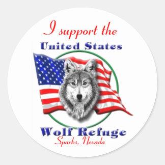 Apoye el U.S.W.R Pegatina Redonda