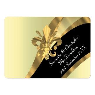 Apoye, favor del boda del oro le agradecen marcar tarjetas de visita grandes