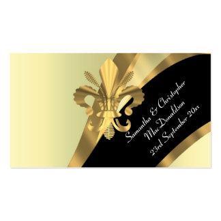 Apoye, favor del boda del oro le agradecen marcar tarjetas de visita