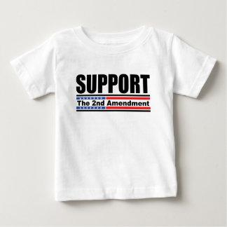 Apoye la 2da enmienda playera de bebé