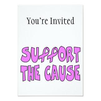 """Apoye la causa del cáncer de pecho invitación 5"""" x 7"""""""