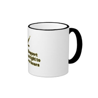 Apoye la derecha de armar osos taza de café