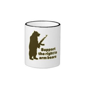 Apoye la derecha de armar osos taza de dos colores