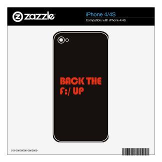 Apoye la F: /para arriba Calcomanías Para El iPhone 4S