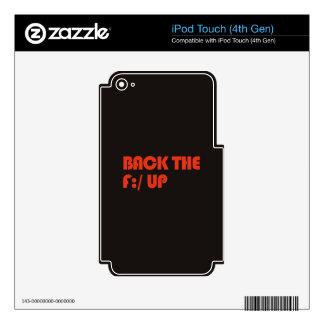 Apoye la F: /para arriba Skins Para iPod Touch 4G