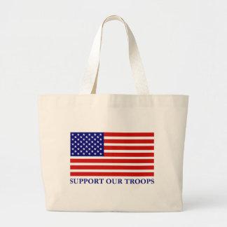 Apoye la nuestra bolsa de asas de la bandera de