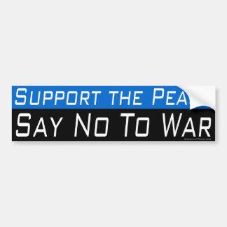 Apoye la paz pegatina de parachoque