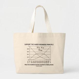 Apoye la práctica del principio de bolsa tela grande