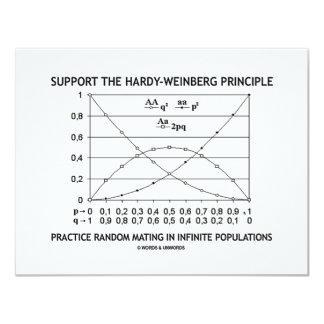"""Apoye la práctica del principio de invitación 4.25"""" x 5.5"""""""