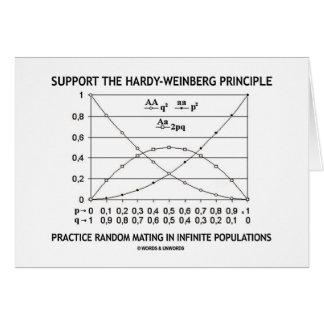 Apoye la práctica del principio de tarjeta de felicitación