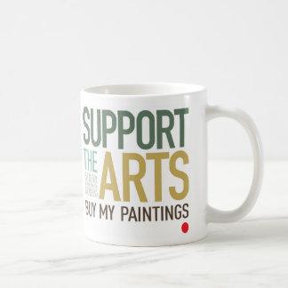 Apoye la taza de los artes