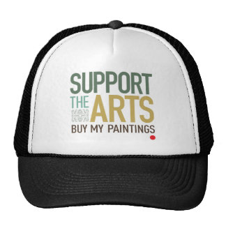 Apoye las pinturas de los artes gorras