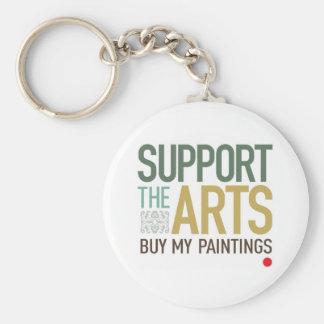 Apoye las pinturas de los artes llavero