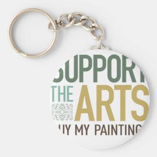Apoye las pinturas de los artes llavero redondo tipo pin