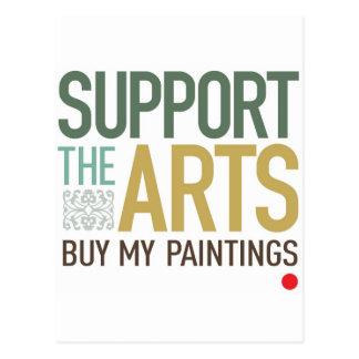 Apoye las pinturas de los artes postal