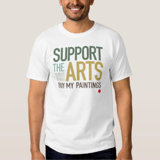 Apoye las pinturas de los artes remera