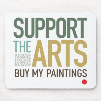 Apoye las pinturas de los artes tapetes de raton