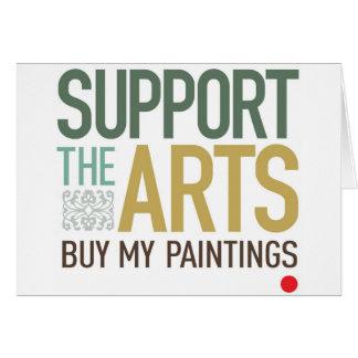Apoye las pinturas de los artes tarjeta de felicitación