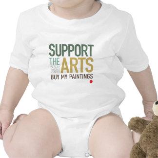 Apoye las pinturas de los artes traje de bebé