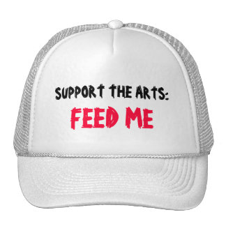APOYE LOS ARTES: ALIMÉNTEME el gorra