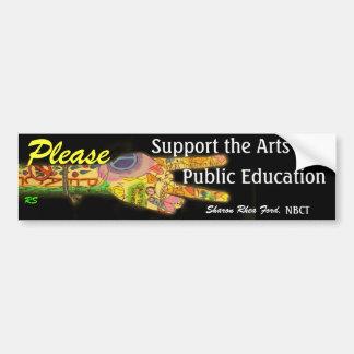 Apoye los artes en la enseñanza pública por SRF Etiqueta De Parachoque