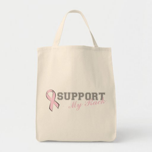 Apoye mi bolso de la cinta del rosa del estante bolsa tela para la compra