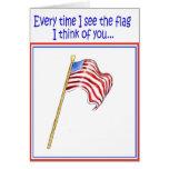 Apoye nuestra bandera americana de la guerra del s tarjetas