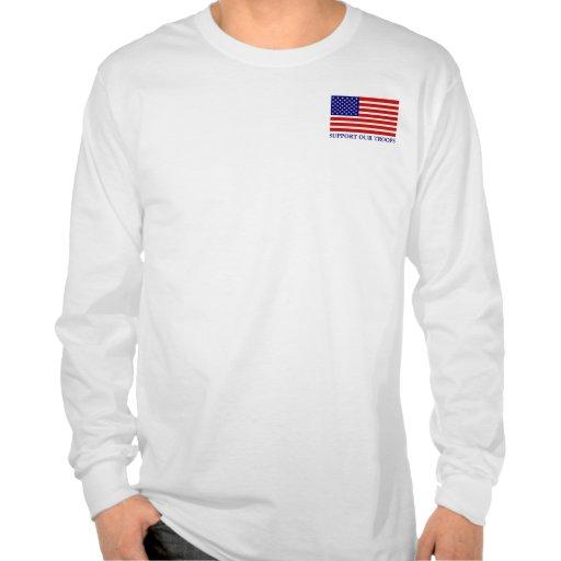 Apoye nuestra camiseta larga para hombre de la