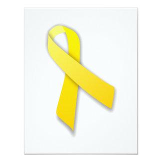 """Apoye nuestra cinta amarilla de la conciencia de invitación 4.25"""" x 5.5"""""""