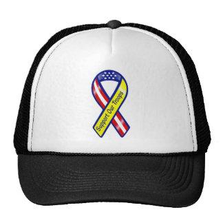 Apoye nuestra cinta de las tropas gorras de camionero