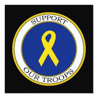 """Apoye nuestra cinta de las tropas invitación 5.25"""" x 5.25"""""""