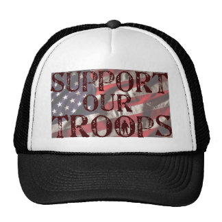 apoye nuestra copia de las tropas gorras