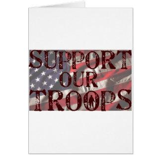 apoye nuestra copia de las tropas tarjeton
