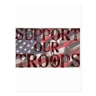 apoye nuestra copia de las tropas tarjeta postal