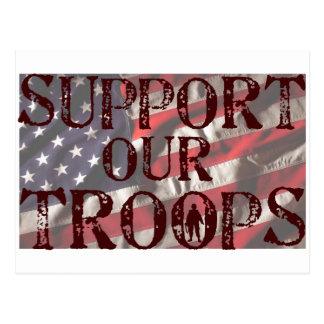 apoye nuestra copia de las tropas postal