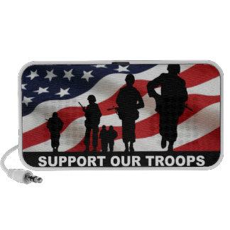 Apoye nuestras fuerzas armadas de arma del ejércit iPod altavoz