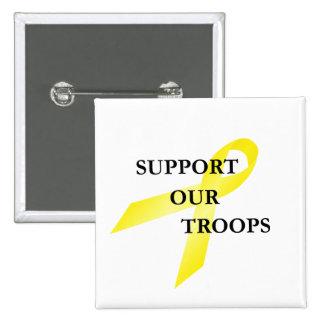 Apoye nuestro botón amarillo de la cinta de las tr pins