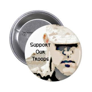Apoye nuestro botón de las tropas pin redondo de 2 pulgadas