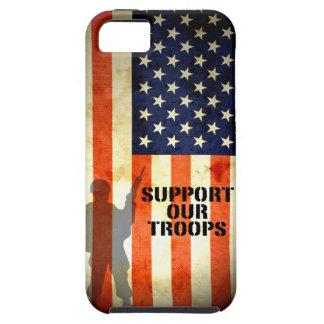 Apoye nuestro caso del iPhone 5 de la bandera amer iPhone 5 Funda