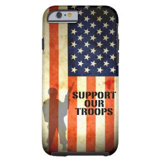 Apoye nuestro caso del iPhone 6 de la bandera Funda De iPhone 6 Tough
