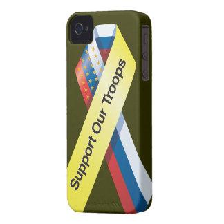 Apoye nuestro caso del iphone de las tropas Case-Mate iPhone 4 carcasa