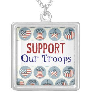 Apoye nuestro collar de las tropas