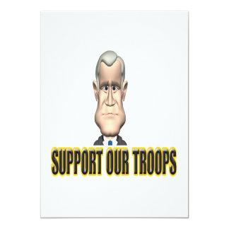 """Apoye nuestro discurso de las tropas invitación 5"""" x 7"""""""