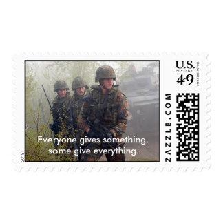 Apoye nuestro franqueo de las tropas sello postal