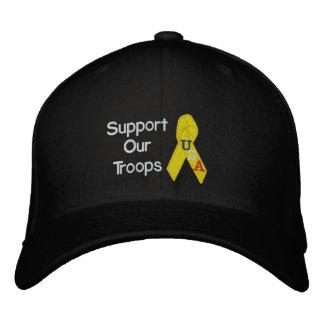 Apoye nuestro gorra bordado las tropas gorra de béisbol bordada