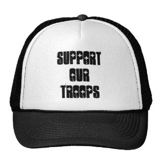 Apoye nuestro gorra de las tropas