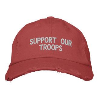 Apoye nuestro gorra de las tropas gorro bordado
