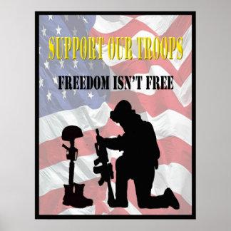 Apoye nuestro poster de las tropas