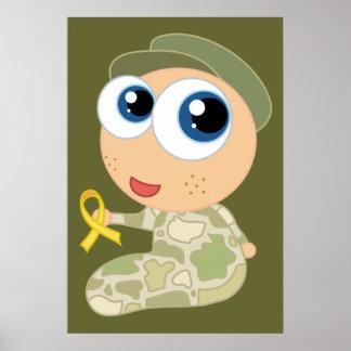 Apoye nuestro poster del bebé del soldado de las t